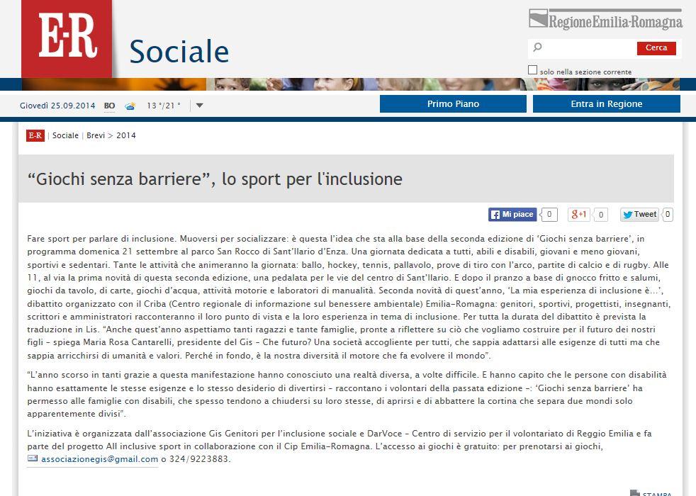 2014-09-20 web Emilia Romagna Sociale