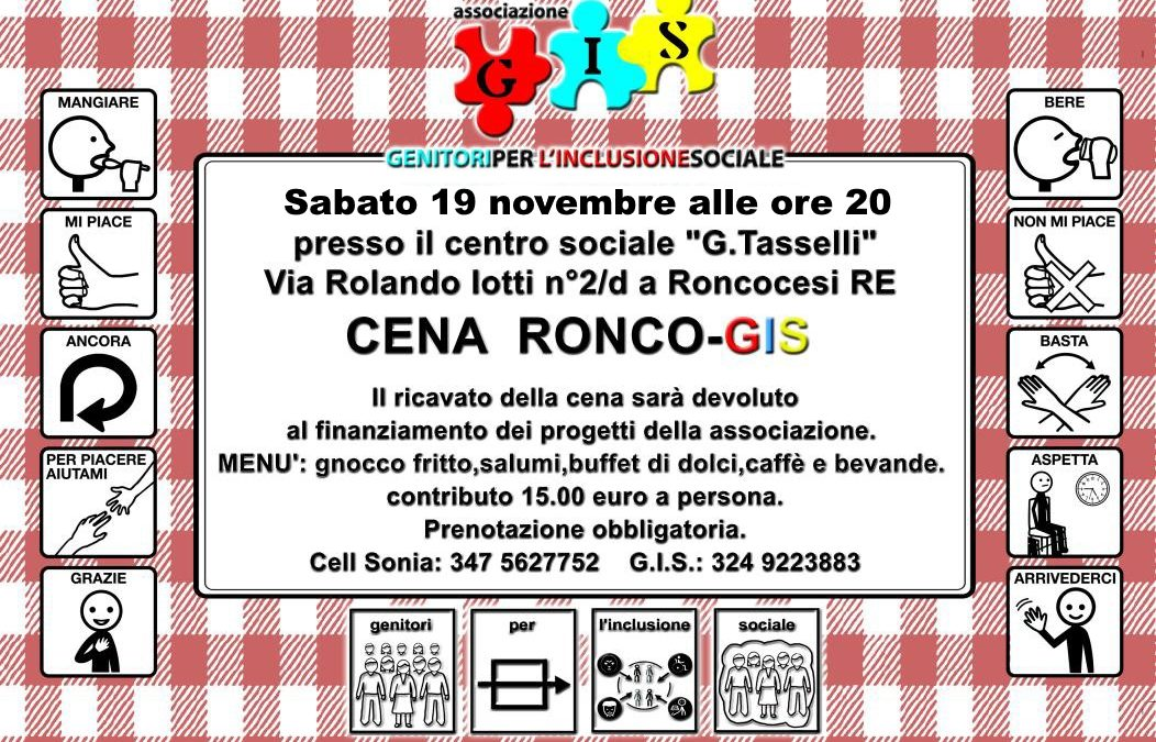 Cena solidale Ronco-GIS