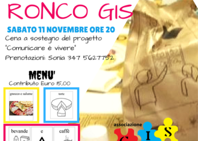 Cena solidale Ronco-GIS 2017