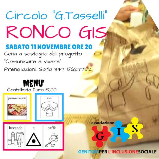 Cena solidale Ronco-GIS 2017
