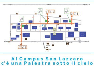 """Palestra sotto al cielo"" Campus S.Lazzaro Reggio Emilia"