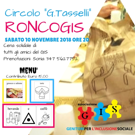 Cena solidale Ronco-GIS  2018